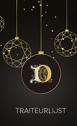 Dumon traiteurslijst Kerst en Nieuwjaar 2020